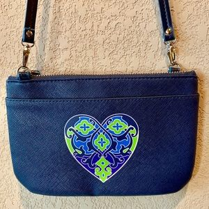 Brighton Crossbody Bag with Heart Appliqué.